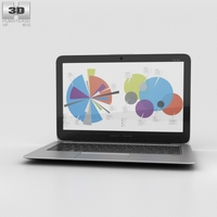 HP EliteBook Folio 1020 G1 3D Model