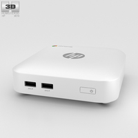 HP Chromebox White 3D Model
