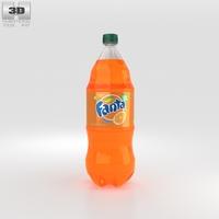 Fanta Bottle 2 Litre 3D Model