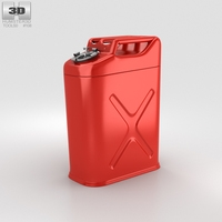 5 Gallon Jerry Gas Fuel Can 3D Model