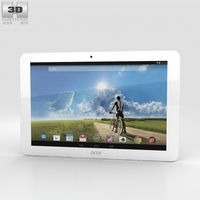 Acer Iconia Tab A3-A20FHD White 3D Model