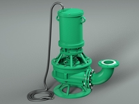 Submersible High Pressure Pump 3D Model