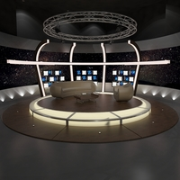 Virtual TV Studio Chat Set 20 3D Model
