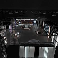 Virtual TV Studio News Set 6 3D Model