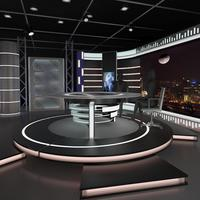 Virtual Tv News Set 11 3D Model