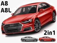 Audi A8 and A8L 3D Model