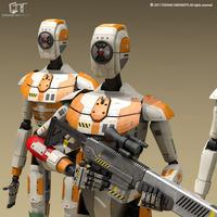 Sci-fi droid 3D Model