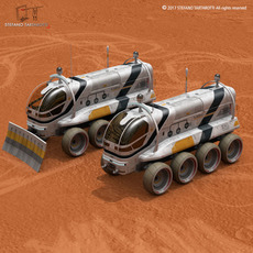 Moon or Mars rover 3D Model