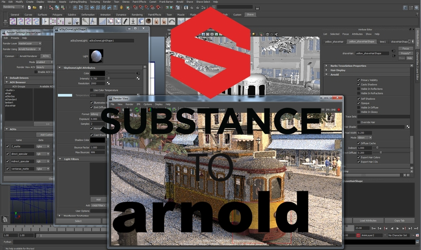 Substance Painter to Arnold 5 for Maya