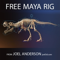 T.rex Skeleton from Joel Anderson 2.0.2 for Maya
