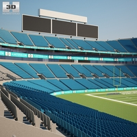 Bank of America Stadium 3D Model