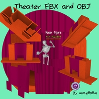 Theater Stage FBX and OBJ 3D Model