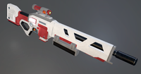 Sci-fi Kinetic Rifle 3D Model