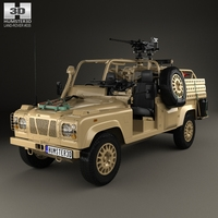 Land Rover Defender RWMIK with HQ interior 2014 3D Model