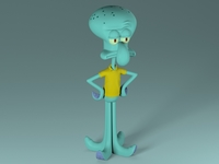 Squidward - Lula Molusco 3D Model