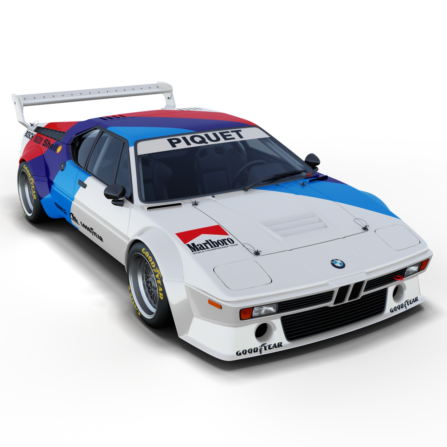 bmw m1 procar 3d model. Black Bedroom Furniture Sets. Home Design Ideas