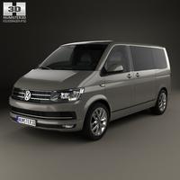 Volkswagen Transporter (T6) Multivan 2016 3D Model
