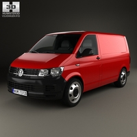 Volkswagen Transporter (T6) Panel Van 2016 3D Model