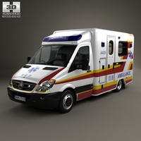 Mercedes-Benz Sprinter (W906) Ambulance 2011 3D Model