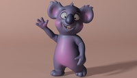 Cartoon koala RIGGED and ANIMATED 3D Model