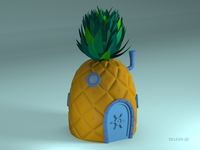 Pineapple SpongeBob 3D Model