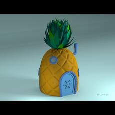 Pineapple SpongeBob 3D Model