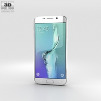 Samsung Galaxy S6 Edge Plus White Pearl 3D Model