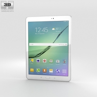 Samsung Galaxy Tab S2 9.7-inch White 3D Model
