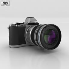 Olympus OM-D E-M5 Silver 3D Model