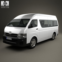 Toyota HiAce Super Long Wheel Base with HQ interior 2012 3D Model