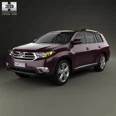 Toyota Highlander with HQ interior 2011 3D Model