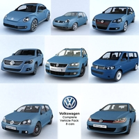 Complete Vehicle Pack Volkswagen 3D Model