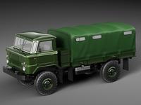 Car GAZ 66 3D Model