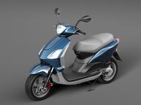 Scooter motorbike 3D Model