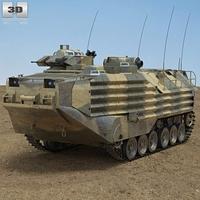 AAV-7 3D Model