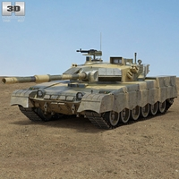 Al-Khalid MBT-2000 3D Model
