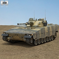 Combat Vehicle 90 3D Model