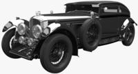 Bentley Blue Train 3D Model