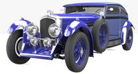 Bentley Blue Train (Blue) 3D Model
