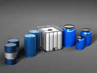 Collection of barrels 3D Model