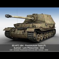SD.KFZ 184 Tank destroyer Tiger (P) - Elefant - 332 3D Model