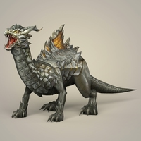 Game Ready Fantasy Monster Dragon 3D Model