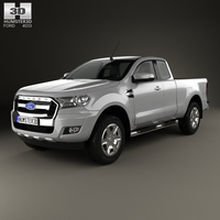 Ford Ranger Super Cab XLT 2015 3D Model