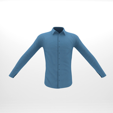 Casual Shirt For Male Characters 3D Model