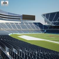 Soldier Field 3D Model