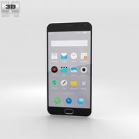 Meizu M2 Note White 3D Model