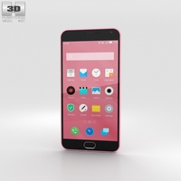 Meizu M2 Note Pink 3D Model