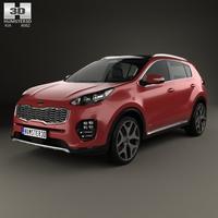 Kia Sportage GT-Line 2016 3D Model
