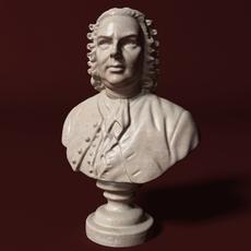 Bach Bust 3D Model