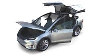 Tesla Model X Silver with interior 3D Model